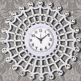 Wall Clocks European Luxury Wooden Clock Clock Clock Large Bedroom Living Room Watch Mute Quartz Clock