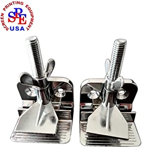 2 pc of Screen Frame Butterfly Hinge Clamp for Silk Screen Printing Include Four Screws