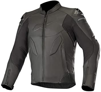Alpinestars Caliber Chaqueta de piel para moto, color negro ...