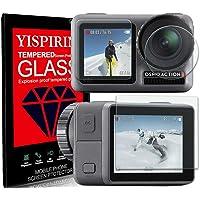 YISPIRIN Främre och bakre skärmskydd och kameralinsskydd kompatibel med DJI OSMO Action [1+1 + 1 pack] [Anti-repor, 9H…