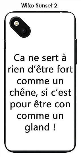 Onozo Carcasa Wiko Sunset 2 Design citación Le Chene Texto ...