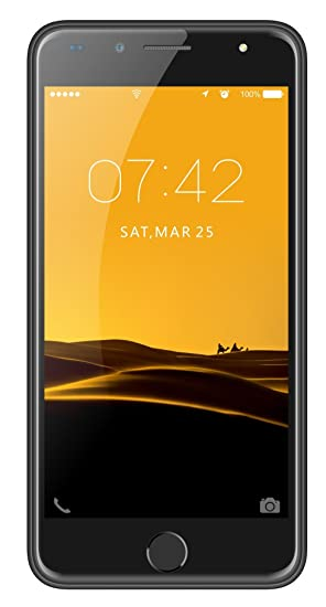 free shipping 3c503 282a1 IKALL K1 Dual SIM Android Mobile Phone with 1.5 GHz Quad-core Processor 5  MP Front Camera and 5-inch Screen (Black)