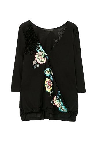 Desigual – Camiseta de manga larga – para mujer