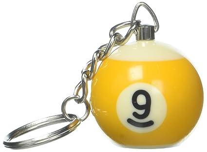 Amazon.com: Pool Bola Cadena De Clave y Scuffer, 9-Ball ...