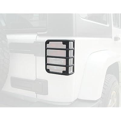Bentolin Matte Black Rear Euro Tail Light Guard Cover Protector for 2007-2020 Jeep Wrangler 2020 Sahara JKU New - Pair: Automotive