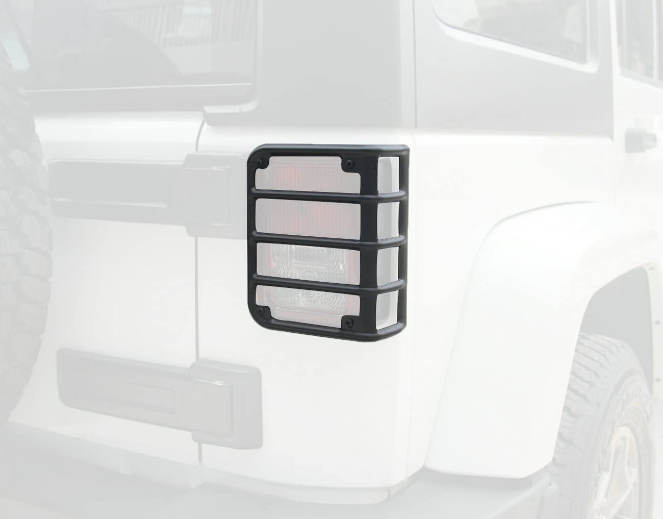 Pair Jeep Wrangler stainless steel Black Euro Tail Light Guard Cover Protector for 2007-2018 Jeep Wrangler 2018 Sahara JKU Brake Light Protector New
