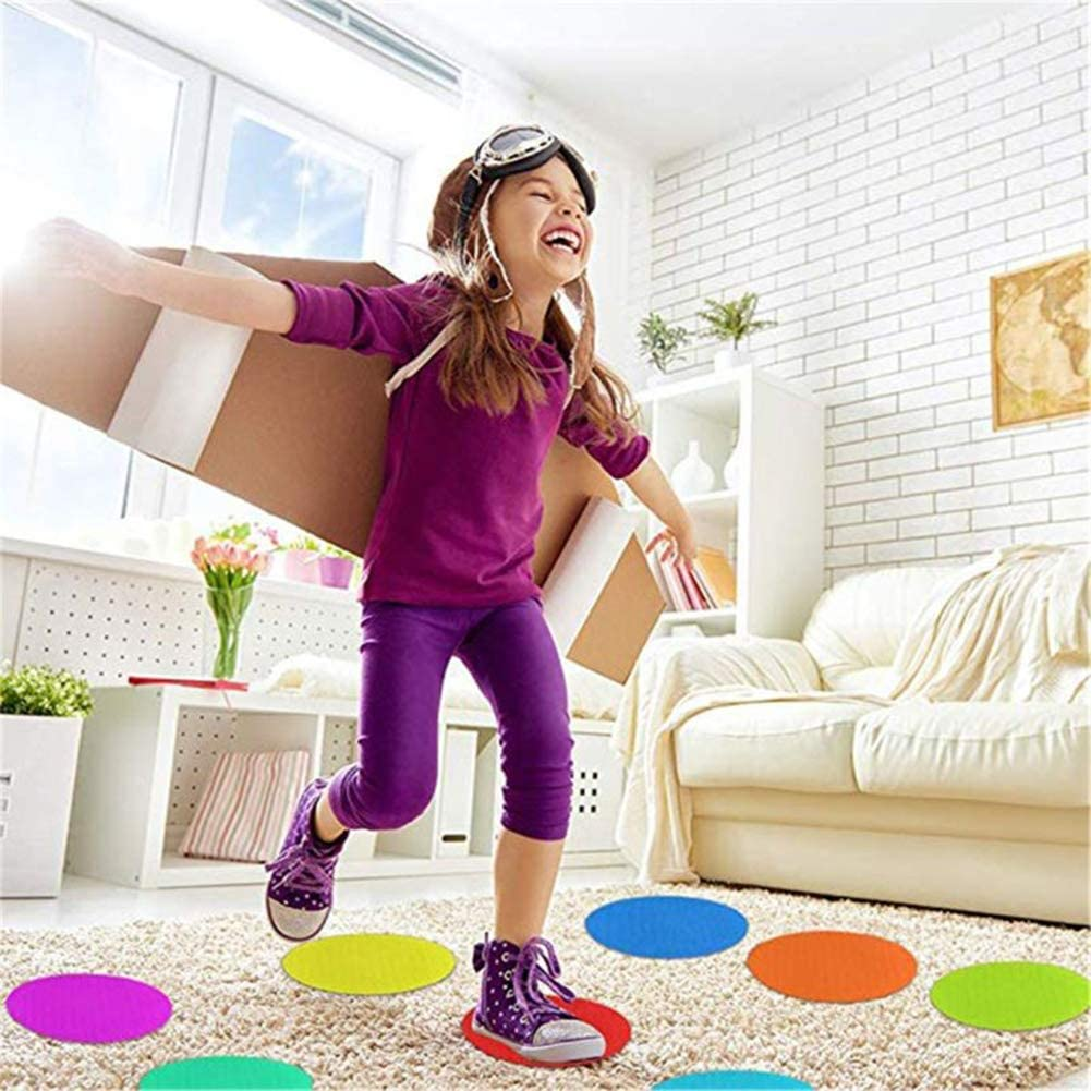 Mark Its Sitting Carpet Spots to Educate Markers Original Vibrant Nylon Sit Dot Circle Spots to Floor Rug Circles Marker Color Dots for Preschool Kindergarten and Elementary Classroom Teachers