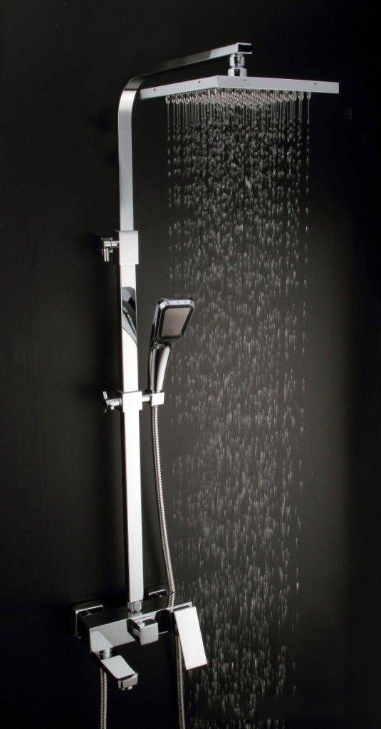ANNTYE Waschtischarmatur Bad Mischbatterie Badarmatur Waschbecken Dusche Gerät Regendusche Set Edelstahl Messing Concea LED-Booster Düse Handheld Badezimmer Waschtischmischer