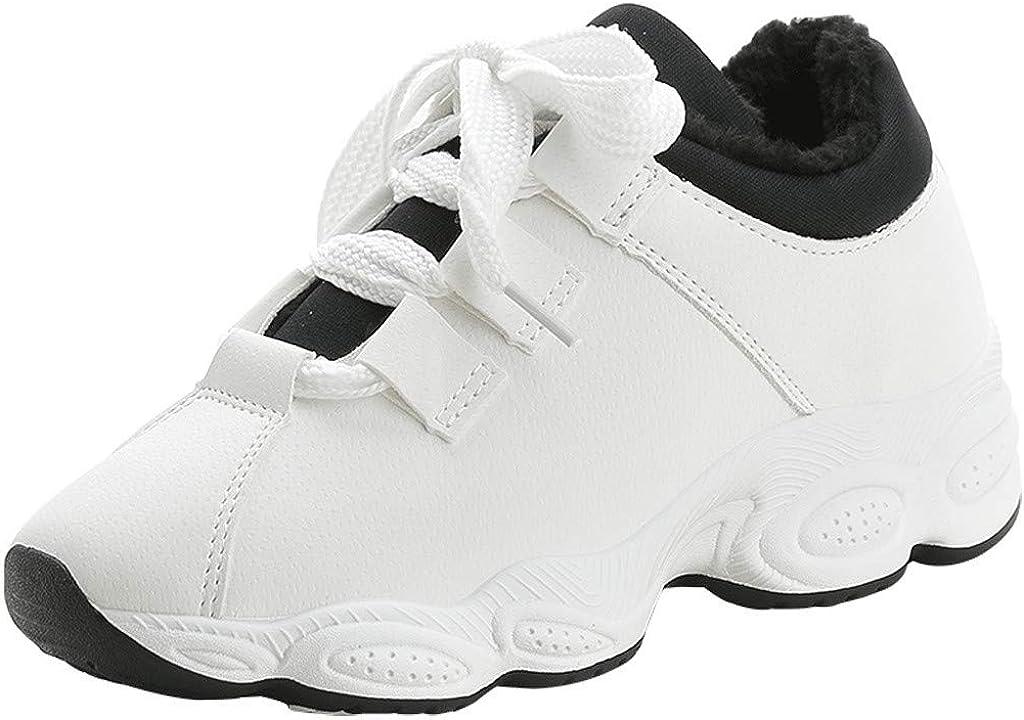 Bestow Zapatillas de Mujer con Plataforma con Cordones de Cuero y ...