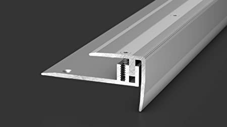 Prinz LPS 220 229 - Perfil para cantos de escalera (2,50 m), color plateado: Amazon.es: Bricolaje y herramientas