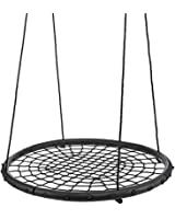 """40"""" 100cm Tree Swing Spider Web Swing Outdoor Tire Swing – Free Two Tree Straps, Extra Safe and Durable, Easy Install for Swing Set or Tree"""