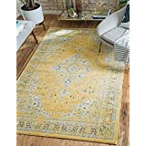 Unique Loom Tradition Collection Yellow 5 x 8 Area Rug (5' x 8')