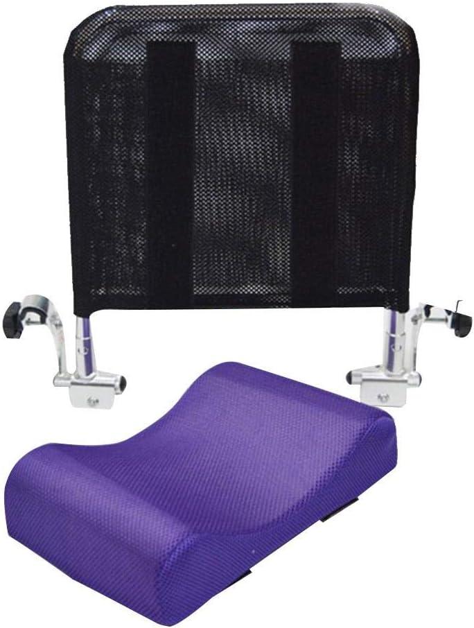Juanya Almohada ajustable para reposacabezas de silla de ruedas con tubo de mango trasero, soporte para el cuello de 16 a 20 pulgadas, color morado