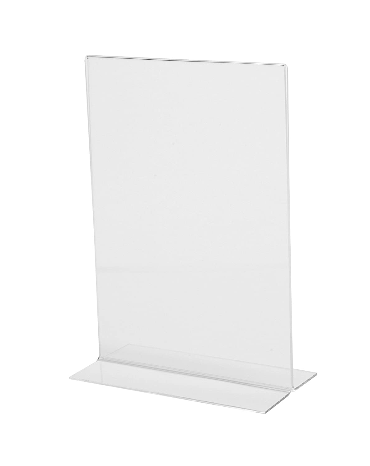 Sigel TA220 Sign Holder, Upright, for A4, Double-Sided Presentation, Acrylic