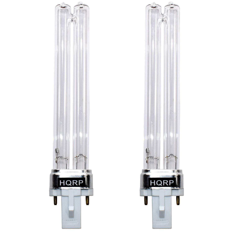 HQRP 2-Pack 9W UV-C Bulb for GermGuardian EV9LBL UV-C Bulb Replacement fits EV9102, REV9102, GG3000BCA Air Sanitizer Plus HQRP Coaster