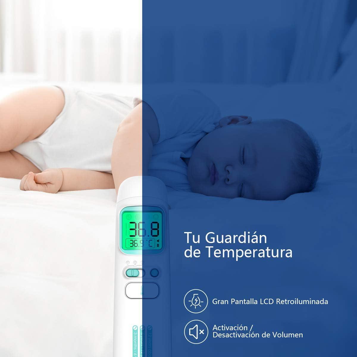 Pantalla LCD Digital Mazuer Term/ómetro de precisi/ón Profesional para ni/ños 5 Piezas ni/ños beb/és Adultos medidor de Temperatura de Fiebre