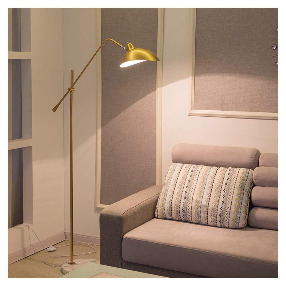 B.YDCM フロアランプリビングルームの寝室のベッドサイドランプシンプルポストモダンクリエイティブLED垂直フロアランプ - フロアスタンド 8563 (色 : ゴールド) B07QZKTYBM ゴールド