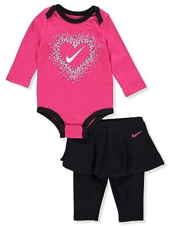 577991103 NIKE Baby Girls' 2-Piece Leggings Set Outfit - Black, 3 Months:  Amazon.co.uk: Clothing
