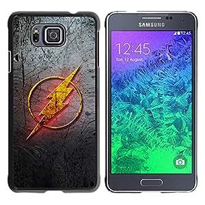 EJOY---Cubierta de la caja de protección la piel dura para el / Samsung ALPHA G850 / --Flash sesión Superhéroe