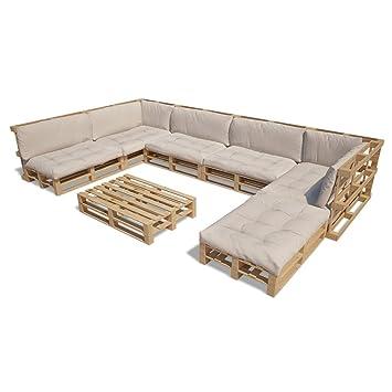 Amazon.de: vidaXL 21tlg. Holz Palettenmöbel Gartenmöbel Lounge ...