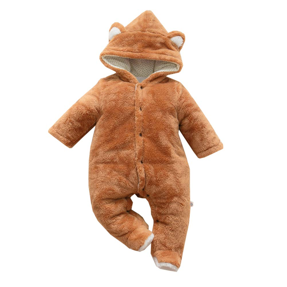 Mornyray Toddler Baby Unisex Thick Fleece Romper Outwear Animal Costume Snowsuit