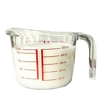 teckpeak 1000 ml jarra medidora de vidrio templado resistente al ...