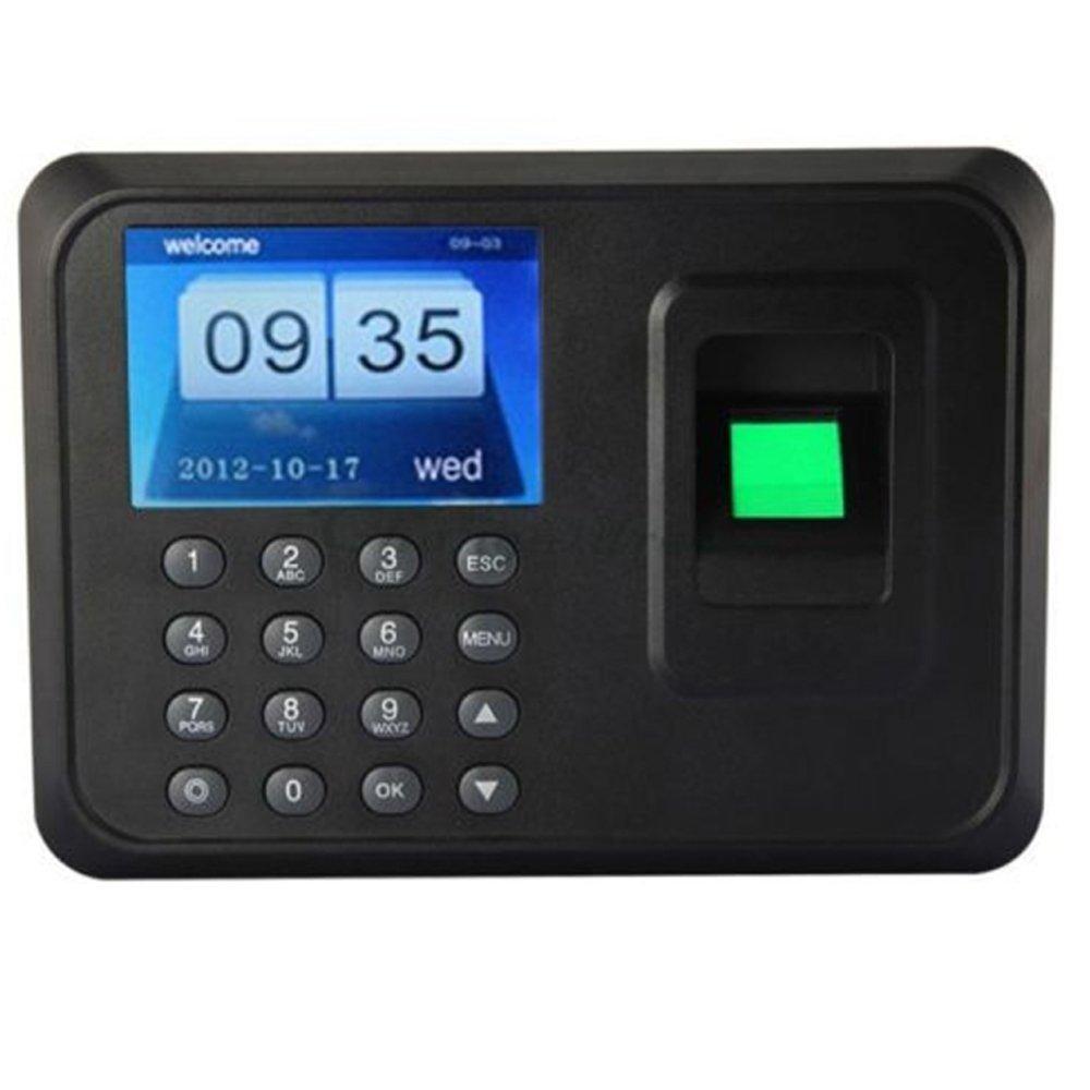Tekit® A6 Fingerprint Time Attendance Biometric Time Attendance Clock Employee Payroll Recorder(2.4'' Tft,support U Disk to Download Data+ U Disk Export Attendance Report Without Attendance Software+ Record Capacity: 150000+ Fingerprint Capacity: 600)