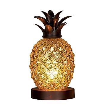 Mercury Glass Tabletop Pineapple Lamp