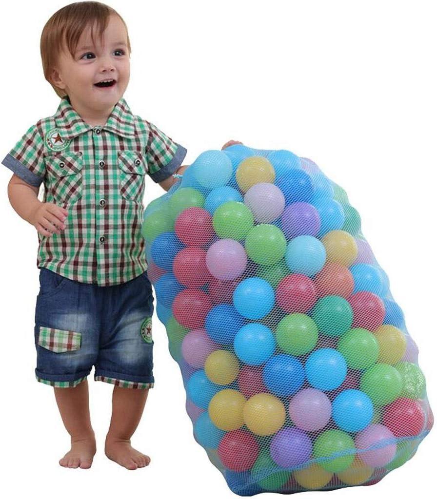 MCY 100 Multicolor de plástico Blando Juega Pit Bolas con PVC Claro Lleva el Bolso for Cubierta Piscina al Aire Libre Trampolín Juego, 6,5 cm de diámetro (Color : 200pcs)