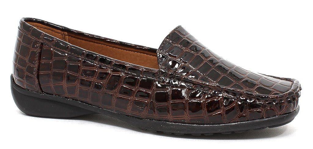 Pierre Dumas Womens Hazel 7 Brown Croc Synthetic Casual 11 B US 81207-801 M