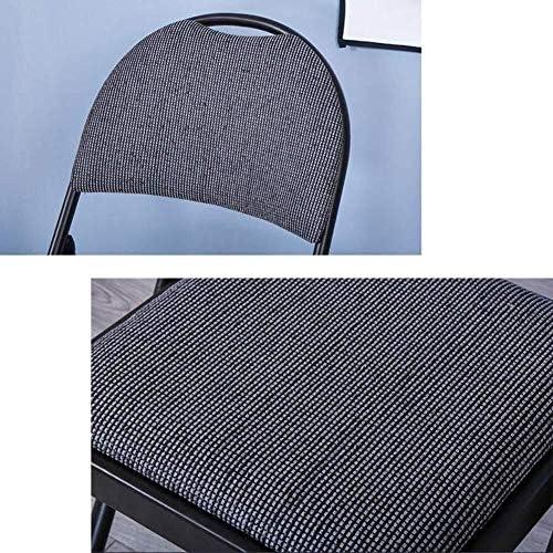 Chaise Pliante En Tissu De Luxe En Acier Épais, Chaise De Bureau, Poids Maximal 150 Kg (couleur: Gris Noir, Taille: 1 Pièce)