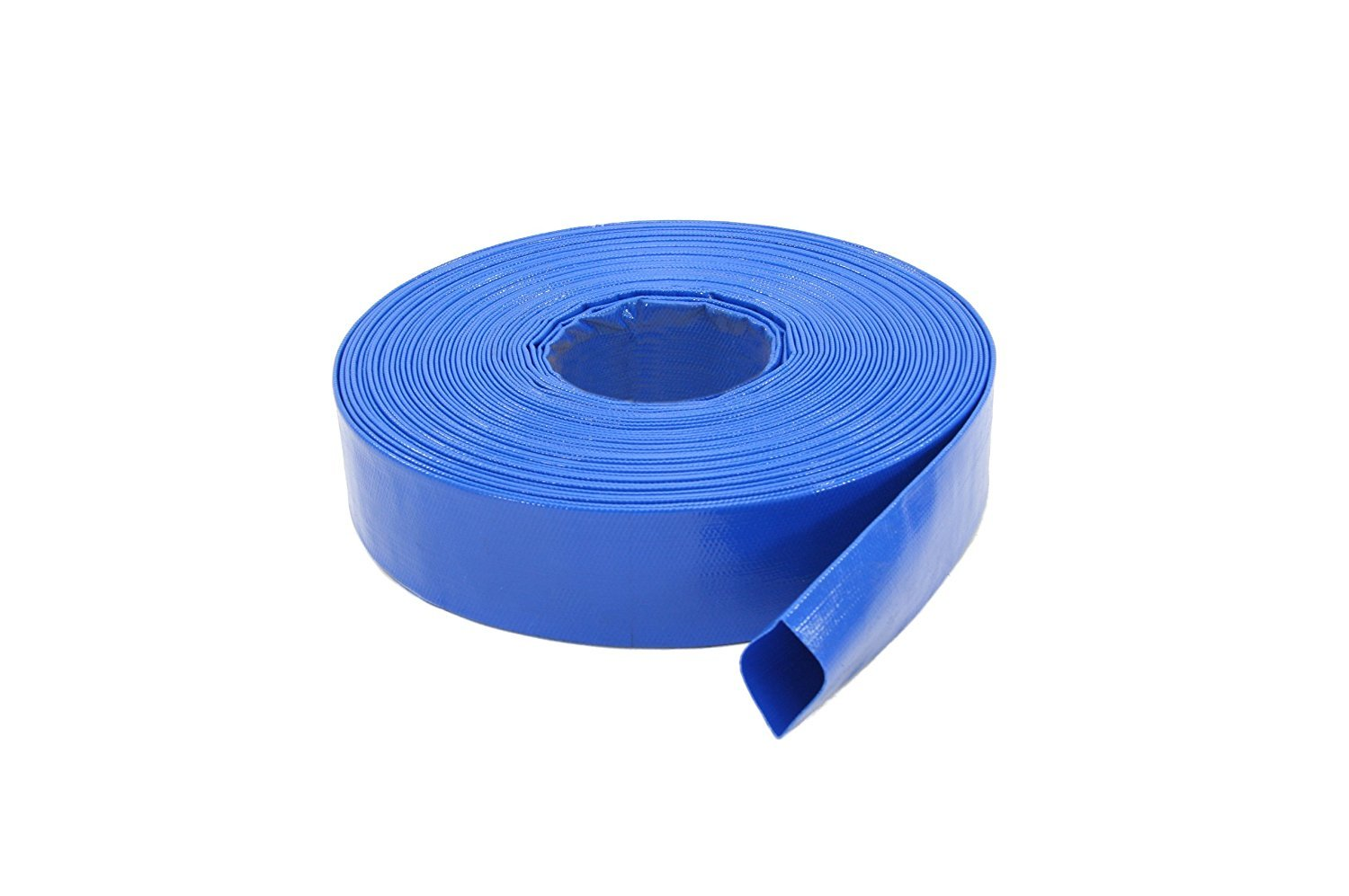 Abbott Rubber 1147-2000-100FT General Purpose Reinforced PVC Lay-Flat Water Discharge Hose, 2-Inch by 100-Feet, Blue