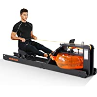 RUNOW Water Rowing Machine, Wood Water Rower with LCD Monitor Water Resistance Wooden Rower Machine for Home Use 300 350…