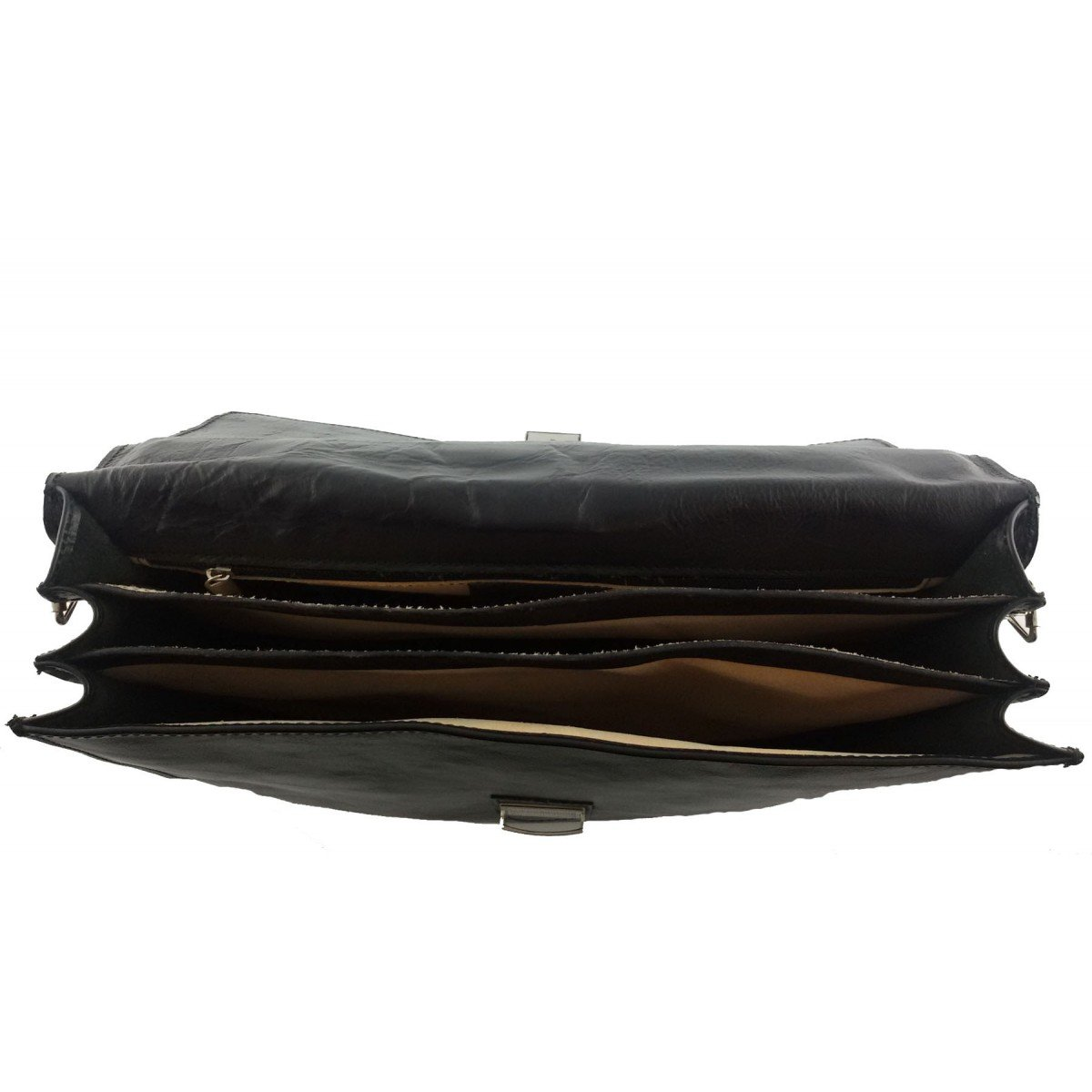 Dream Leather Bags Made in Italy Genuine Leather Leather Business Bag Color Black