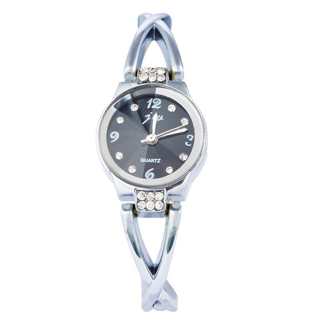 RainBabe Black Hollow Sunflower Dial White Silcon Analog Quartz Wrist Watch 25cm for Women