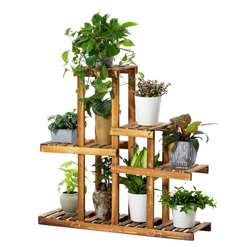 G-ZWJXX Plant Stand Vetrina in Legno Massello Stand Flower Pot Espositore Mensola Garden Outdoor