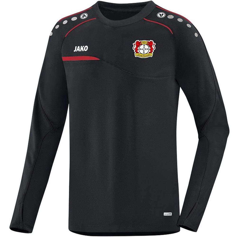 JAKO Fußball Bayer 04 Leverkusen Sweatshirt Prestige Herren Pullover schwarz rot Gr L