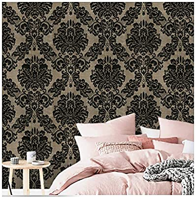 Peel And Stick Bedroom Wallpaper Damask Wallpaper Self Adhesive Contact Paper For Bedroom Livingroom Buy Online At Best Price In Uae Amazon Ae