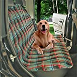 Uniflow In Dog Waterproof Car Bench Back Seat Cover Blanket NonSlip protector With Velcro Seatbelt Hole Green Convertible57''45''inch For Truck SUV Machine Washable (green)