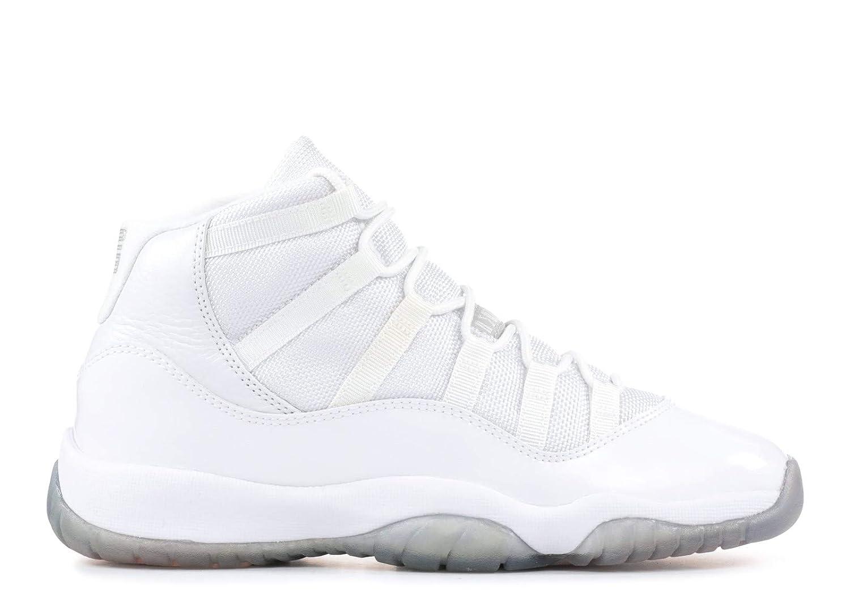 new arrival 23a00 31225 Amazon.com   Air Jordan 11 (Gs)  25Th Anniversary  - 378038-101 - Size 4  White, Metallic-Silver   Basketball
