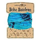 Natural Life Boho Bandeau Turquoise Tie-Dye