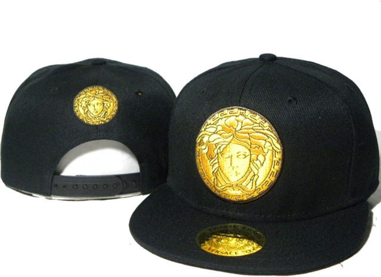 Ventas caliente negro Versace Gorra con logotipo de oro.: Amazon ...