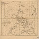 Vintography 24 x 36 Giclee Print Nautical Map Image East India Isles 1856 NOAA 82a