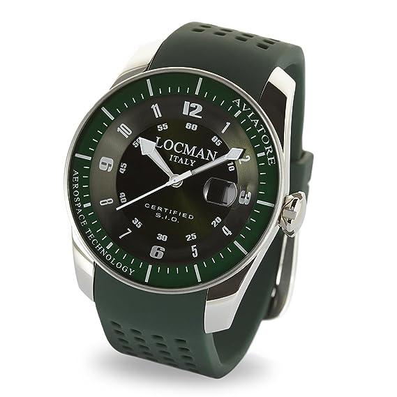 Locman - reloj de aviador verde