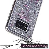 Galaxy S8 Plus Case, Asstar [Liquid Case Series] Fashion Creative Design Flowing Liquid Floating Luxury Bling Glitter Sparkle Diamond Soft Case for Samsung Galaxy S8+ Plus 2017 Release (Silver)