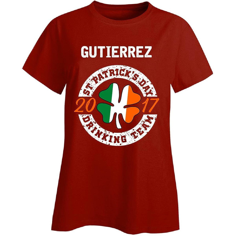 Gutierrez St Patricks Day 2017 Drinking Team Irish - Ladies T-shirt