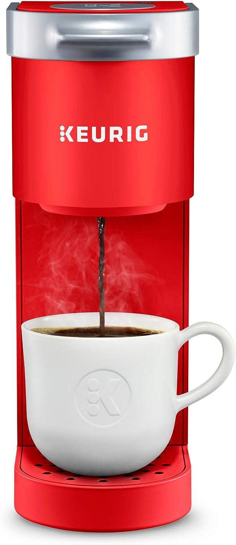 Keurig K-Mini Coffee Maker, Single Serve K-Cup Pod Coffee Brewer, 6 to 12 oz. Brew Sizes, Poppy Red