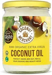 500mL Bio-Kokosöl Extra Virgin, roh, kaltgepresst, unraffiniert | Coconut Merchant | Ethisch bezogen, vegan, ketogen und 100% natürlich | Für Haare, Haut & Zum Kochen, 500mL