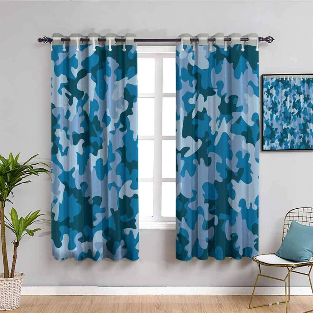 Amazon Com Camo Bedroom Decor Blackout Shades Blue Military Camouflage Southwestern Army Navy Forces The Great Adventure Authentic Art American Fabric Home Decor Fashion Cafe Curtain W72 X L84 Inch Guys Home,Color Personality Test Blue Gold Green Orange Free