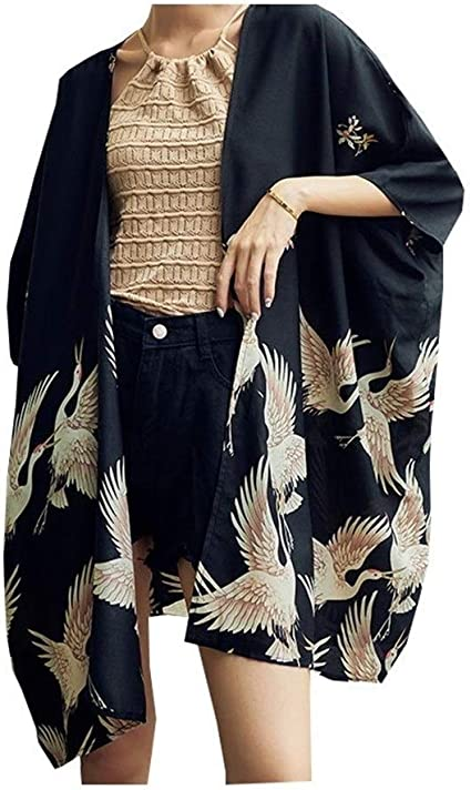ZTXCM Cultura Japonesa Mujer de Kimono japonés Yukata Mujeres ...